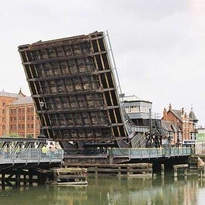 Corporation Bridge being opened up