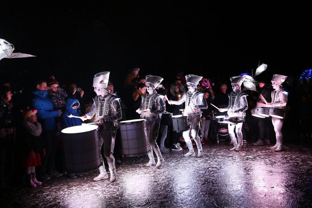 Serval 'tin men' playing drums