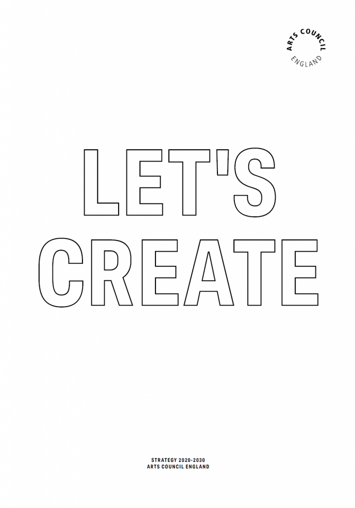 Art's Council's Let's Create front cover